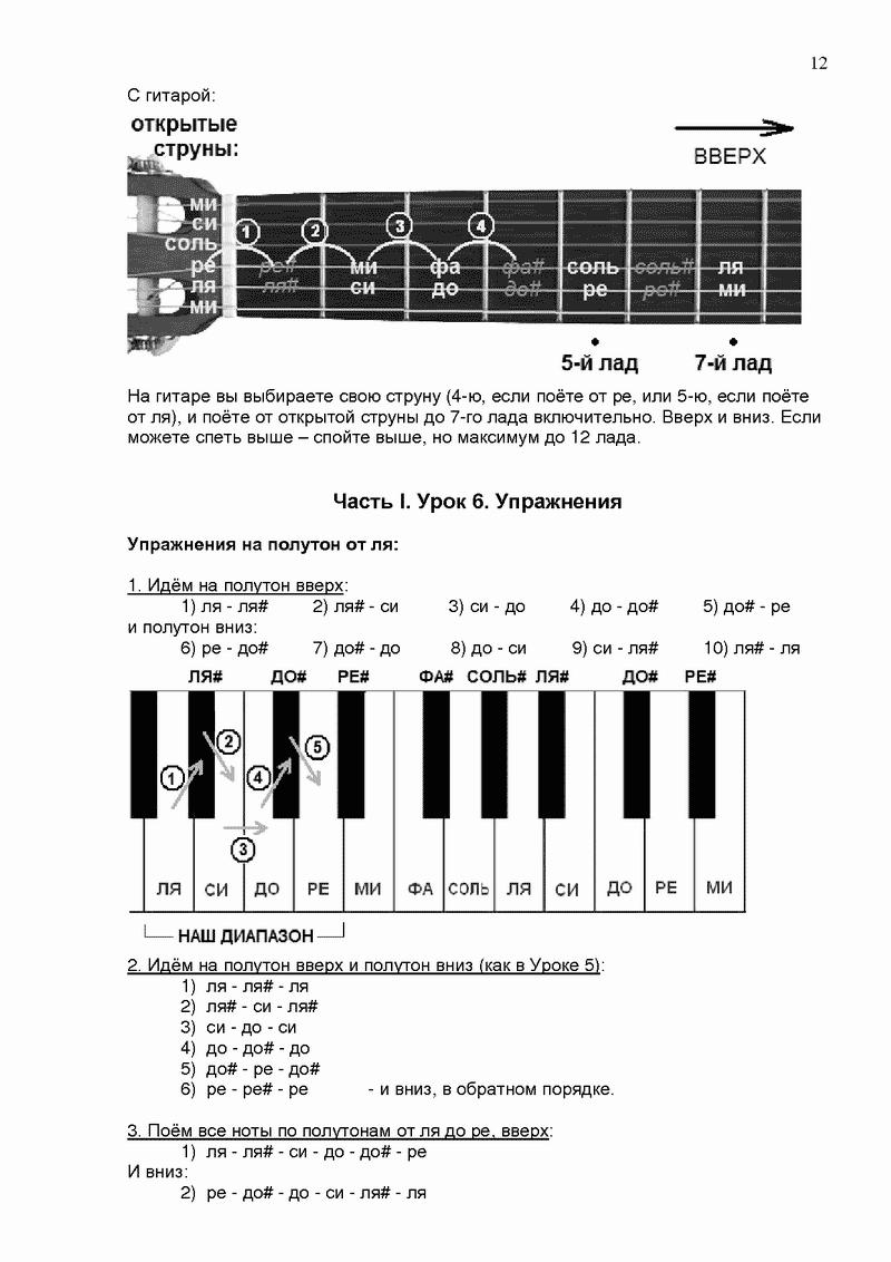 На ноты для распевки фортепиано голоса Ноты распевки