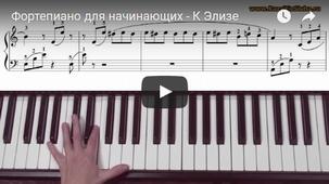 Как сыграть К Элизе на Фортепиано